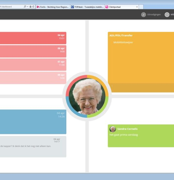 Startscherm clientportaal SVRZ