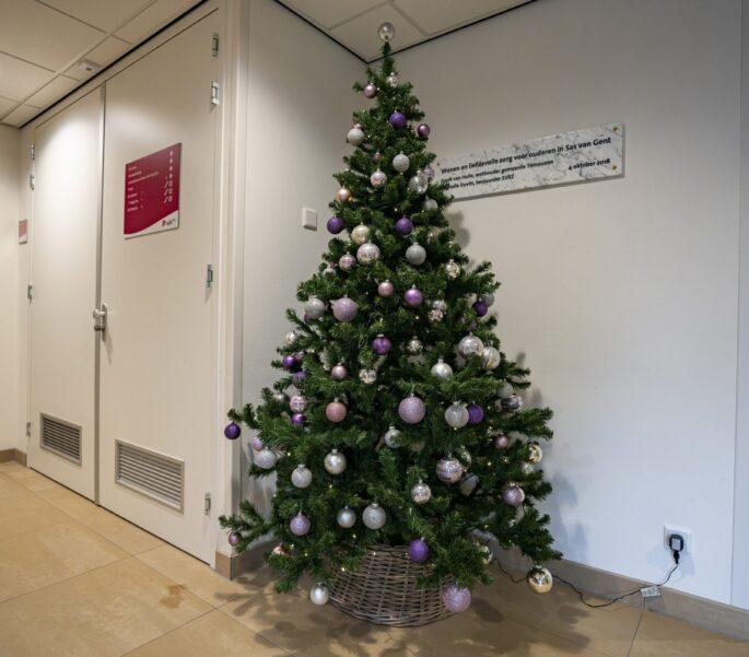 Kerstboom op SVRZ locatie Sas van Gent