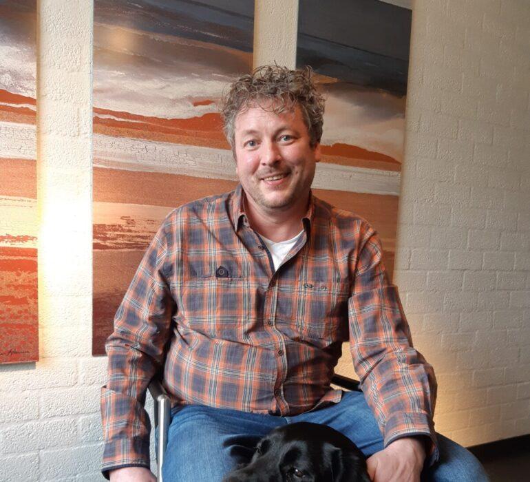 Dale Lefrandt met hond