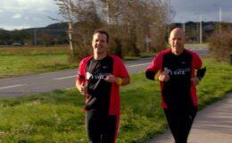 Dirk en Jan hardlopen