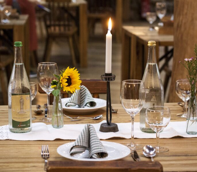 Gedekte tafel buiten